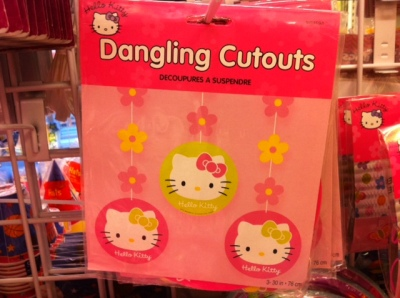 hello kitty dangling cutouts
